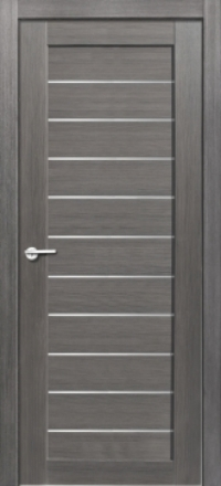 Межкомнатная дверь Porta Bella Экошпон Тефея амарант серый остекленная
