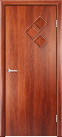 Межкомнатная дверь Содружество Трио итальянский орех глухая