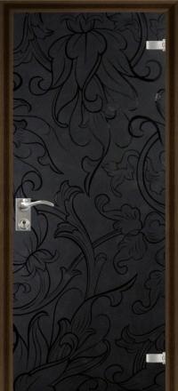 Межкомнатная дверь Дариано Валенсия стеклянная