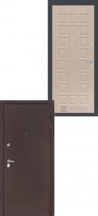Входная дверь Лабиринт Classic антик медный 04 -  Беленый дуб