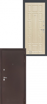 Входная дверь Лабиринт Classic антик медный 12 - Беленый дуб