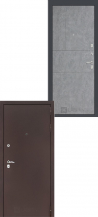 Входная дверь Лабиринт Classic антик медный 21 - Бетон светлый