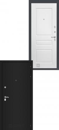 Входная дверь Лабиринт Classic шагрень черная 03 - Белый софт