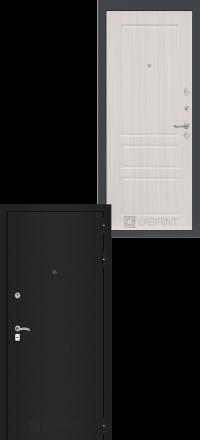 Входная дверь Лабиринт Classic шагрень черная 03 - Сандал белый