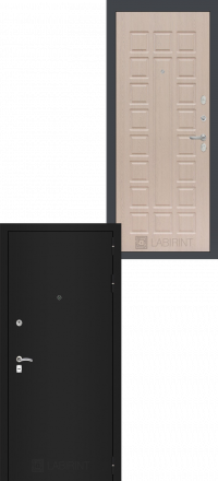 Входная дверь Лабиринт Classic шагрень черная 04 - Беленый дуб