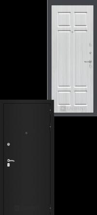 Входная дверь Лабиринт Classic шагрень черная 08 - Кристалл вуд