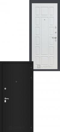 Входная дверь Лабиринт Classic шагрень черная 12 - Белое дерево