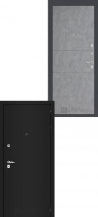 Входная дверь Лабиринт Classic шагрень черная 21 - Бетон светлый