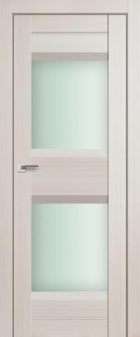 Межкомнатная дверь ПрофильДорс 61X Эш вайт мелинга стекло матовое