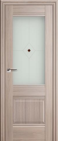 Межкомнатная дверь ПрофильДорс 2X Орех пекан со стеклом