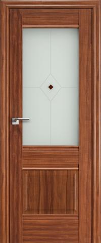 Межкомнатная дверь ПрофильДорс 2X Орех амари со стеклом
