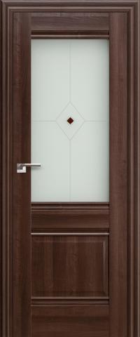 Межкомнатная дверь ПрофильДорс 2X Орех сиена со стеклом